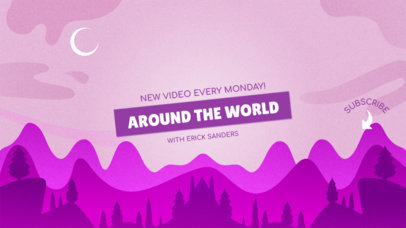 Adventurous YouTube Banner Design Template 1077b