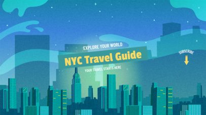 YouTube Banner Maker for a Travel Guide Channel 1077d
