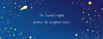 Facebook Cover Maker for Quotes with Star Illustrations 1087a