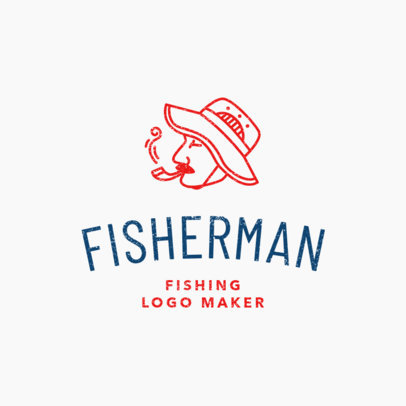 Simple Fishing Logo Maker 1794c