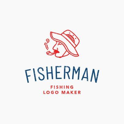 Simple Fishing Logo Maker 1794c