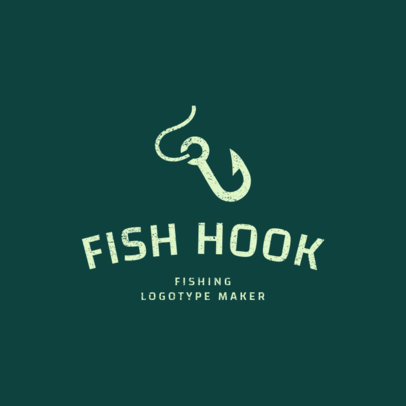 Fishing Logo Maker with Hook Clipart 1794d