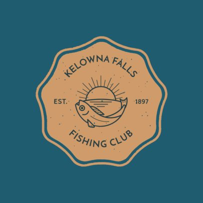 Fishing Club Logo Maker with Tuna Clipart 1796a