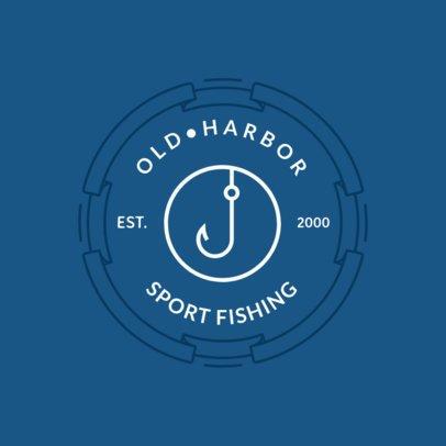 Minimalistic Logo Maker for a Fishing Club Logo 1796e