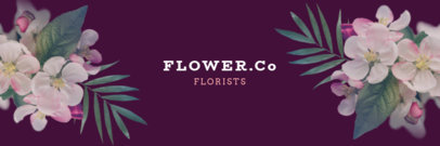 Twitter Header Template for a Florist Profile 1095a