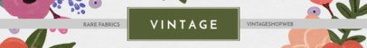 Etsy Shop Banner Maker for a Vintage Store 1114a
