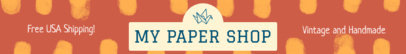 Colorful Etsy Shop Banner Maker for Paper Shops 1116a