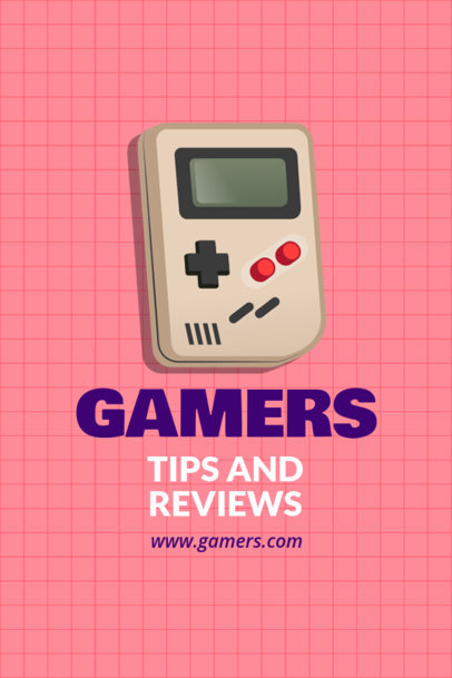 Pinterest Pin Template with Gaming Graphics 1124