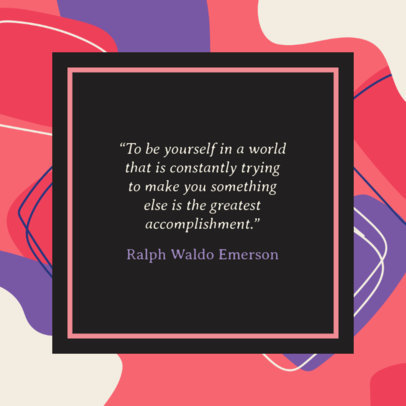 Instagram Post Generator for a Quote with a Square Border 1104d