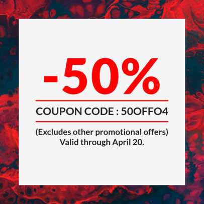 Simple Coupon Design Template 1013