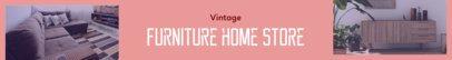 Etsy Shop Banner Maker for Vintage Furniture Stores 1120e