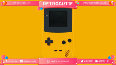 Twitch Overlay Maker with Retro Game Images 1069c