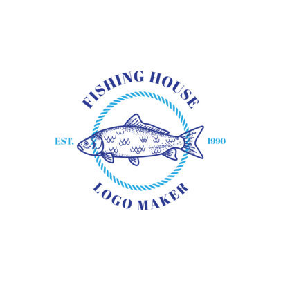 Fishing Logo Maker for a Fishing House 1793