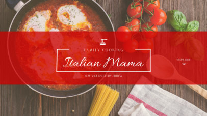 YouTube Banner Creator for an Italian Cooking Channel 1076d