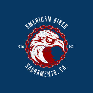 Biker Bar Logo Maker Featuring an Eagle 1765a