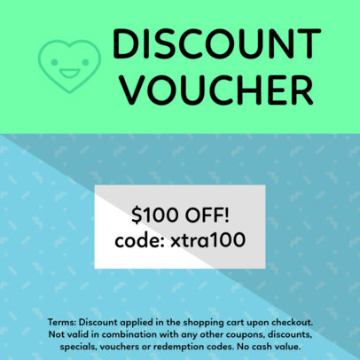 Coupon Design Template for a Discount Voucher 1005