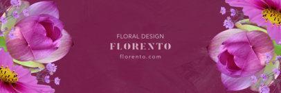 Floral Design Twitter Header Maker 1096a