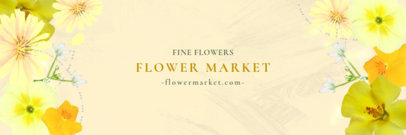 Twitter Header Maker for a Flower Market 1096b