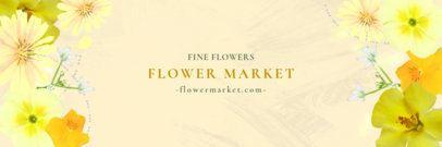 Twitter Header Maker for a Flower Market 1096b