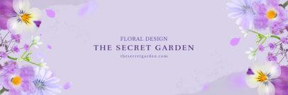 Simple Twitter Header Maker for Florists 1096c