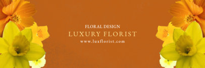 Elegant Twitter Header Template for Florists 1096d