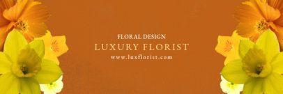 Elegant Twitter Header Template for Florists 1096d