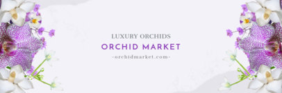 Elegant Twitter Header Maker for an Orchid Flower Market 1096e