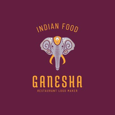 Indian Restaurant Logo Maker with Ganesha Clipart 1836d