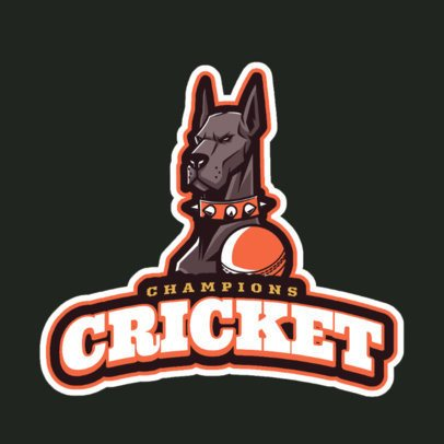 Cricket Logo Maker with Cool Mascots 1651