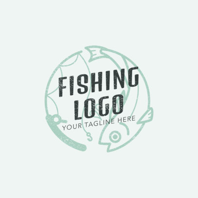 Minimalistic Fishing Logo Maker 1792