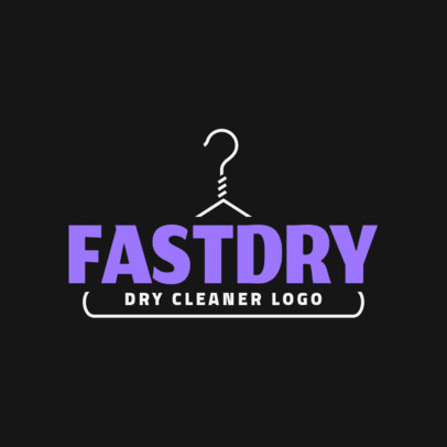 Laundry Service Logo Maker for a Simple Dry Cleaner Logotype 1774c