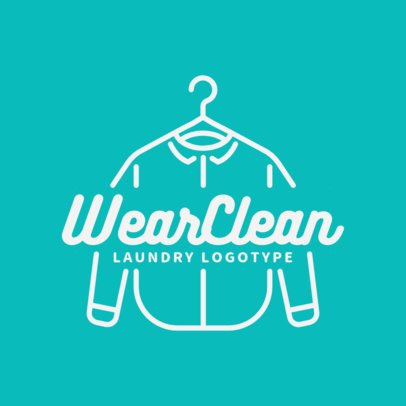 Dry Cleaning Logo Design Template with Hanger Clipart 1774d