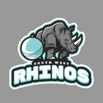 Cricket Logo Template for a Local Team 1651a
