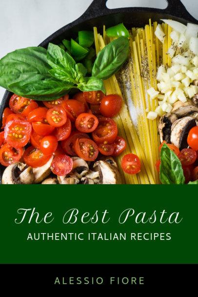 Italian Cookbook Cover Design Maker 921a