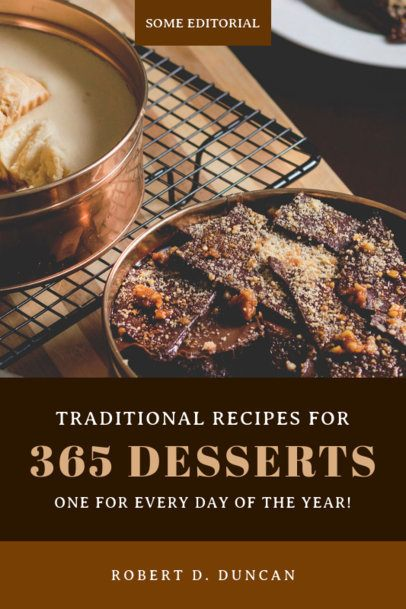 Cookbook Cover Design Template for a Desserts Book 921b