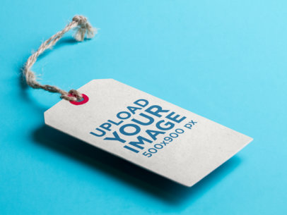 Label Tag Mockup Over a Flat Surface a6808
