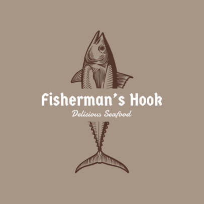 Seafood Logo Maker with Fish Clipart 1799c