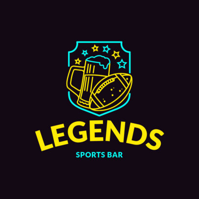 Neon Style Logo Maker for a Sports Bar 1687