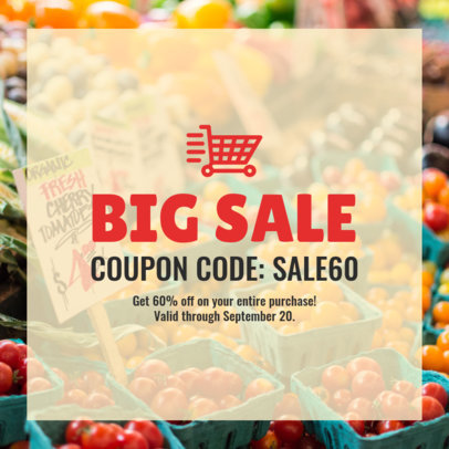 Coupon Code Design Maker for a Big Sale 1022c