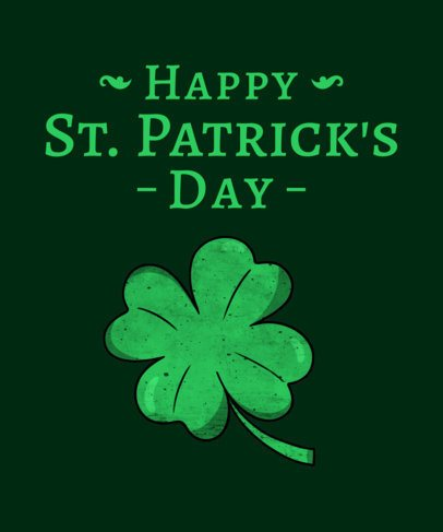 T-Shirt Design Template for St. Patrick's Day 1129