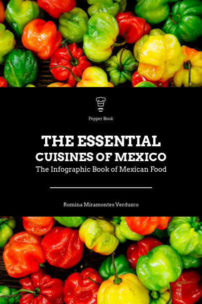 Mexican Food Cookbook Cover Design Template 922a