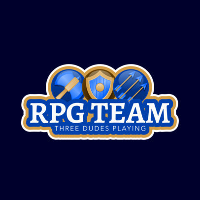 RPG Gaming Logo Template for an RPG Gaming Team 1742