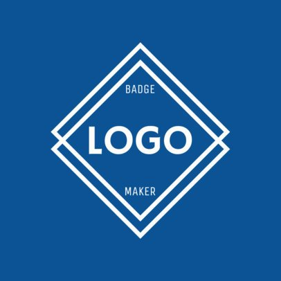Diamond Logo Maker with a Blue Theme 1783a