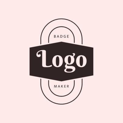 Badge Design Logo Maker with Pink Hues 1783c