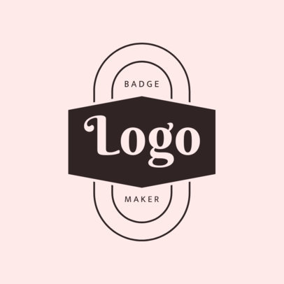 Badge Design Logo Maker with Pink Hues 1783c