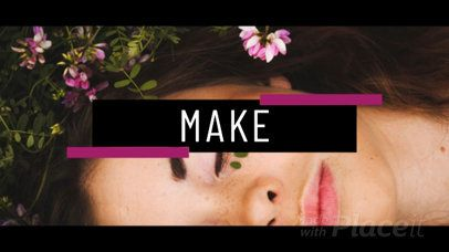 Animated Intro Maker for a Beauty Video 1161