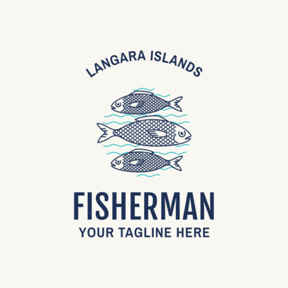 Fishing Logo Maker with Minimalist Graphics 1795
