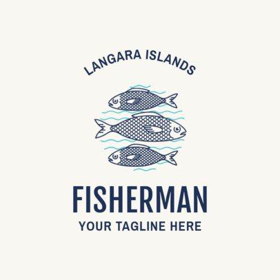 Fishing Logo Maker with Minimalist Graphics 1795