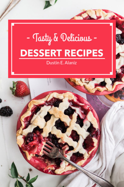 Book Cover Maker for Dessert Recipes 923b