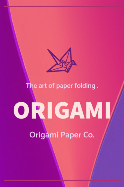 Pinterest Pin Maker for an Origami Tutorial 1121a